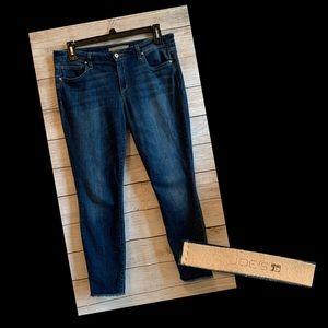 Joe's Jeans Fit Skinny Ankle Frayed Hem